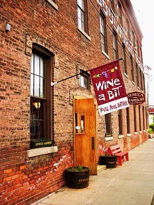 Seneca Lake (New York) - Seneca Harbor wine center.