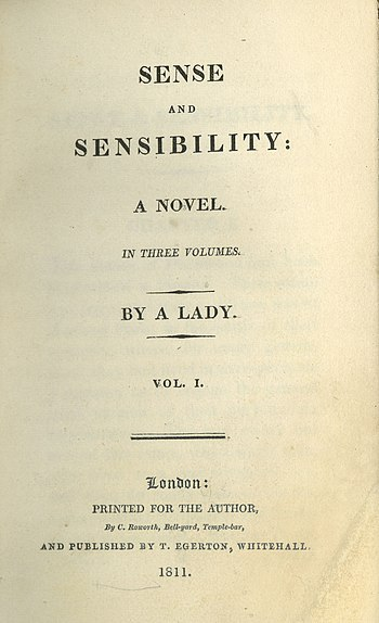 Title page from the first edition of Jane Aust...