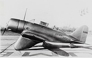 Seversky P-35 Converted in 1934 to 350hp Wright R-975E with a faired landing gear as SEV-3L, then SEV-3XAR, X-2106 to win the Air Corps' BT-8 contract (16334858241).jpg