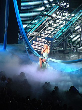 """In the Zone - Spears performing """"Shadow"""" during The Onyx Hotel Tour in 2004."""