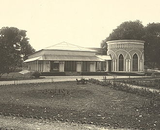 Madhur Canteen - The Jalsaghar buildings in 1904. Photo taken by Fritz Kapp.