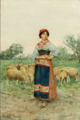 Shepherdess with Her Flock - Clelia Bompiani-Battaglia.png