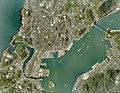 Shimonoseki city center area Aerial photograph.2009.jpg