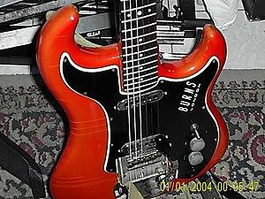 Burns London - Detail of Shortscale Jazz Guitar
