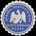 Siegelmarke K.Pr. Bezirks-Kommando Wesel W0387021.jpg