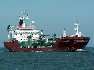 Sigmagas p2 approaching Port of Rotterdam, Holland 08-Jul-2006.jpg
