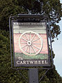 Sign for the Cartwheel, Whitsbury - geograph.org.uk - 404021.jpg