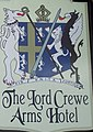 Sign for the Lord Crewe Arms Hotel, Blanchland - geograph.org.uk - 635579.jpg