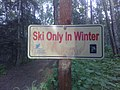 Sign prohibiting skiing in the summer.jpg