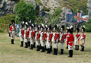 Royal Newfoundland Regiment - Reenactors dressed in uniform used during 1795 at Signal Hill