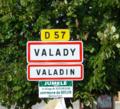 Signalisation entrée Valady, Valadin.png