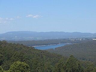 Silvan Reservoir lake in Australia