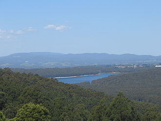 Water supply and sanitation in Australia - The Silvan reservoir supplies water to Melbourne.