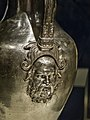 Silver Oinochoe (wine jug) with Silenus relief from the tomb of Philip II of Macedon at Aigai (Vergina) 350-336 BCE 02.jpg