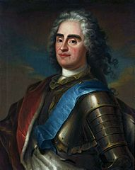 Portrait of Augustus II of Poland with the ribbon of the Order of the White Eagle.