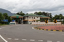 An immigration checkpoint in Sindumin.