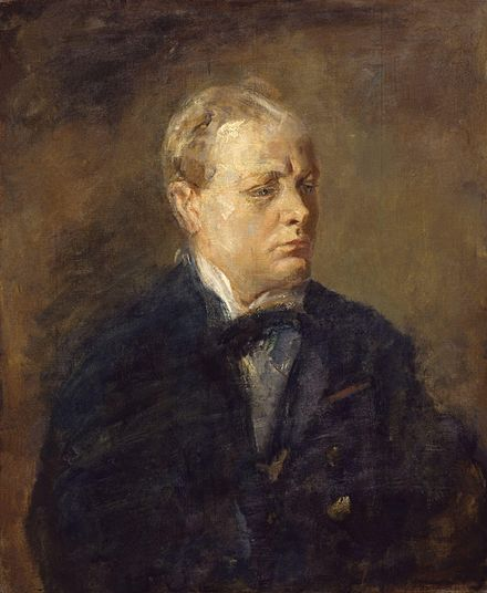 Portrait of Churchill by Ambrose McEvoy (1878–1927) Sir Winston Leonard Spencer Churchill by Ambrose McEvoy.jpg
