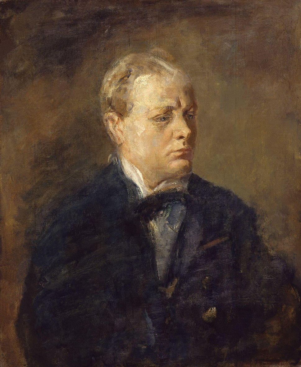 Sir Winston Leonard Spencer Churchill by Ambrose McEvoy