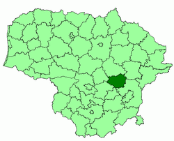 Location o Širvintos destrict municipality