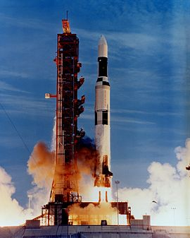 A Saturn INT-21 launches the Skylab space station, on May 14, 1973