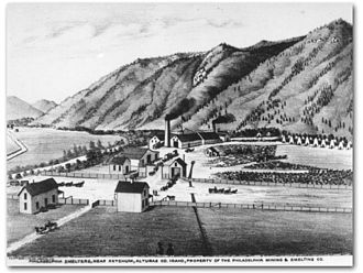 Hailey, Idaho - Philadelphia Smelter in Hailey, Idaho, 1884