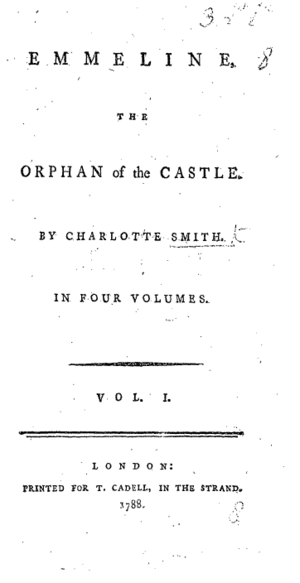 Emmeline - Title page from the first edition of Emmeline