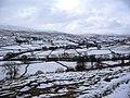 Snowy Ramps Holme hillside, looking across to Muker - geograph.org.uk - 1727768.jpg
