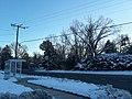 Snurlough snow, bus stop, Fort Hunt Road, and sidewalk.jpg