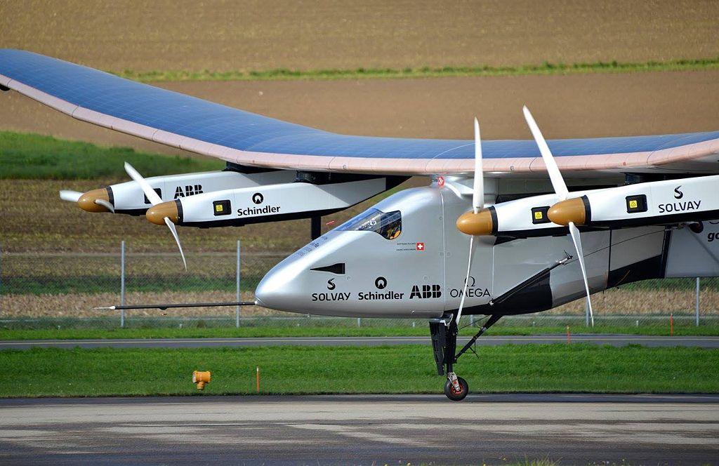 Solar Impulse SI2 pilote Bertrand Piccard Payerne November 2014