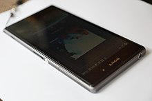 Sony Xperia Z1 Black C6903 Front right.JPG