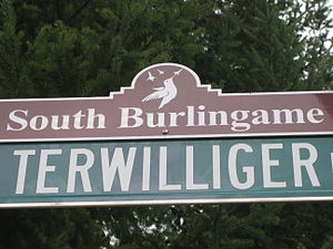 South Burlingame, Portland, Oregon - South Burlingame neighborhood street sign topper