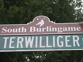 South Burlingame, Portland, Oregon - South Burlingame neighborhood street sign topper