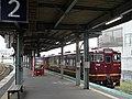 South Hokkaido Railway Kiha 40 1796 at Hakodate Station.jpg