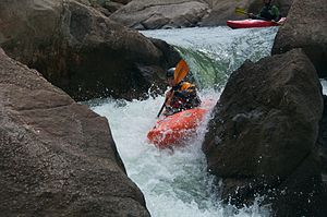 South Platte River - Kayakers in Eleven Mile Canyon
