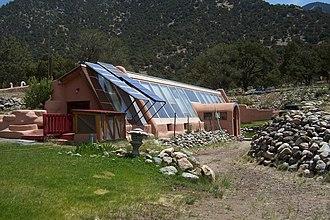 Crestone, Colorado - Passive solar building near Crestone