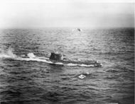 Soviet submarine and U.S. Navy - Blockade Cuban Missile Crisis