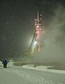 Soyuz TMA-22 rocket during a snow storm the morning of the launch.jpg