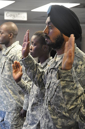 Sikhs in the United States military - Specialist Lamba, United States Army (2010)