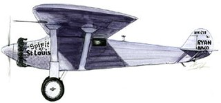 monoplane flown solo by Charles Lindbergh