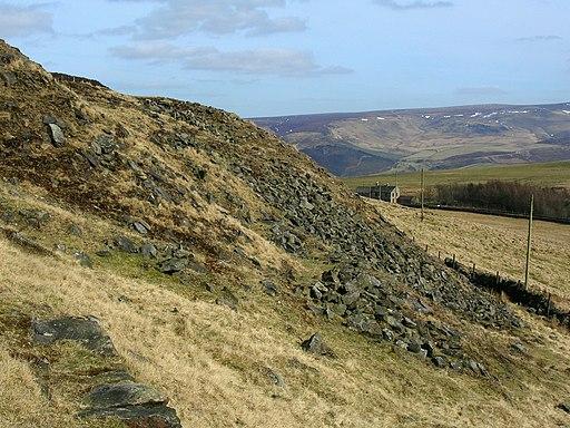 Spoil heap on Cown Edge - geograph.org.uk - 1760861