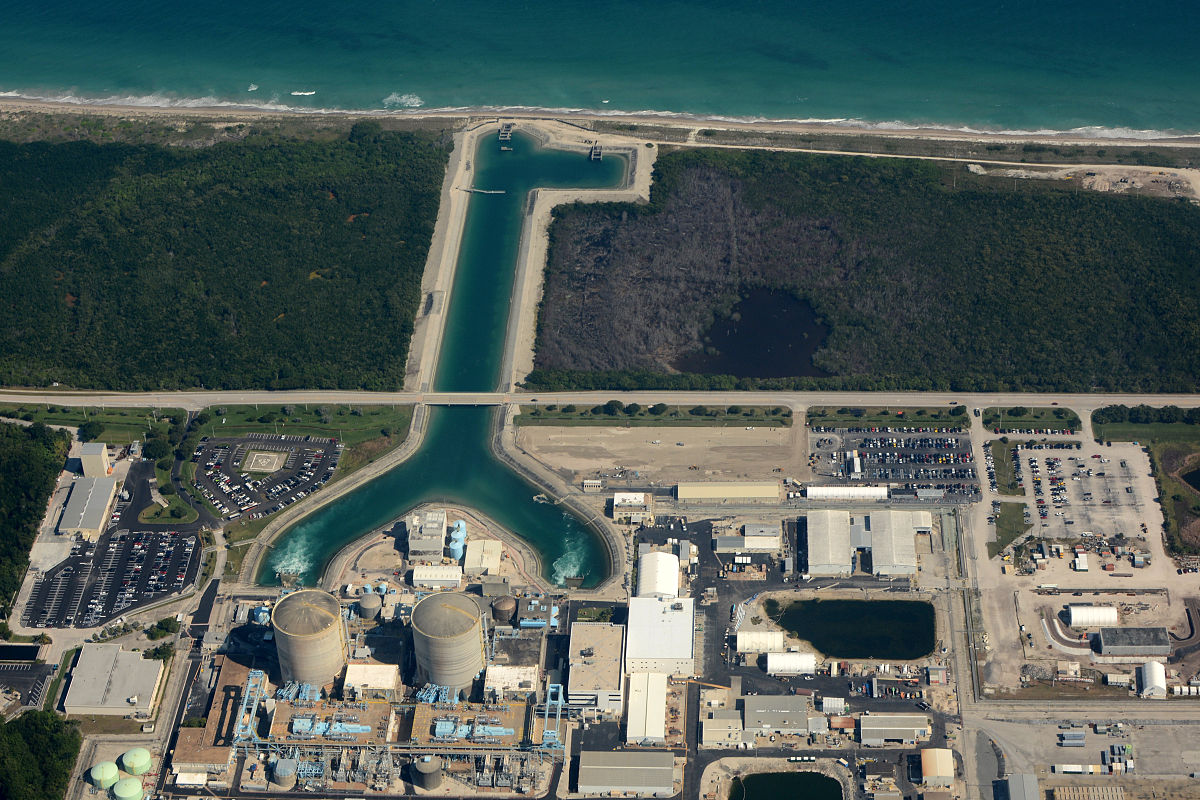 St Lucie Nuclear Power Plant Wikipedia - Us nuclear power plants map florida