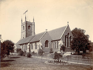 Reading Minster - Image: St. Mary's Church, Reading, from the south east, c. 1887