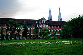 Basic Education High School No. 6 Botataung - The East Wing as seen from Theinbyu Road
