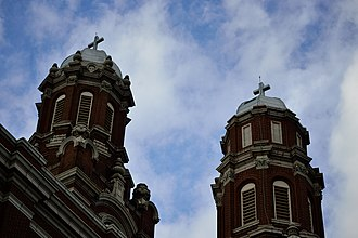 Avondale, Chicago - St. Hyacinth Basilica towers over the Avondale neighborhood.