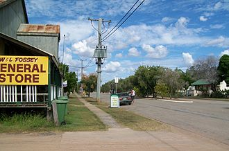 St Lawrence, Queensland - View along St Lawrence's main street