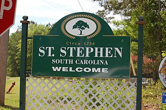 St. Stephen, South Carolina - Sign entering St. Stephen