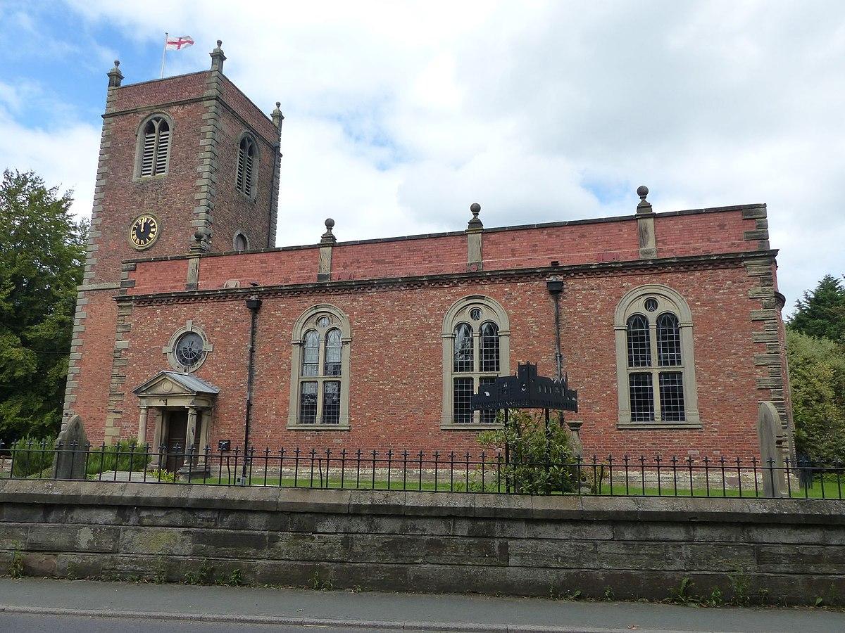 St Bartholomew's Church, Church Minshull (south side).jpg
