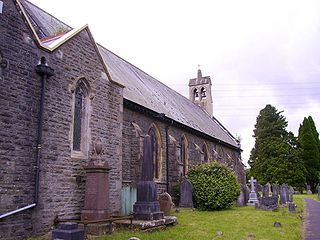 Hopkinstown village in Wales