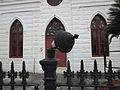 St James AME NOLA leaning fence light 1.JPG