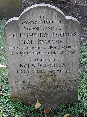Humphry Tollemache - Funerary monument, St Peter's Church, Petersham